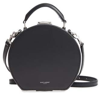 Saint Laurent Small Mica Leather Hat Box