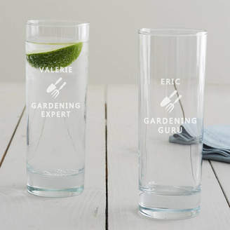 Becky Broome Personalised Gardening Hi Ball Glass