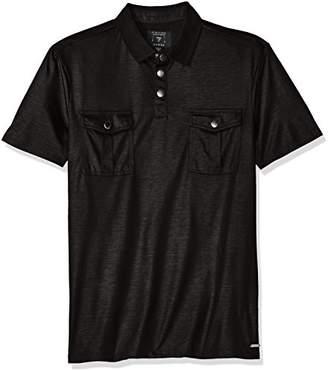 GUESS Men's Mason Military Polo Shirt