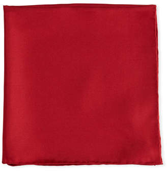 Psycho Bunny Solid Silk Twill Pocket Square, Cranberry