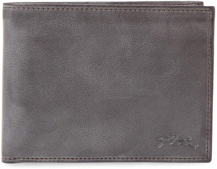 Longchamp Women's Distressed Leather Bifold Wallet