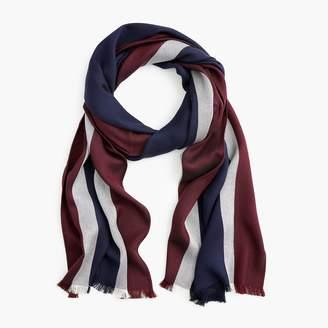 J.Crew Lightweight striped wool-blend scarf