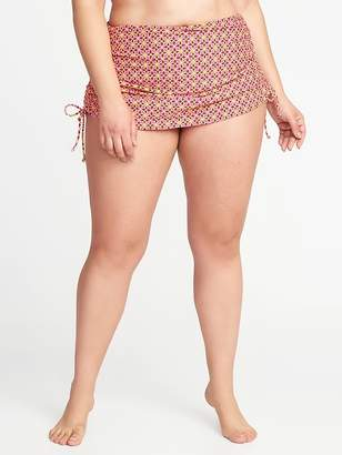 Old Navy Smooth & Slim Plus-Size Side-Tie Swim Skirt