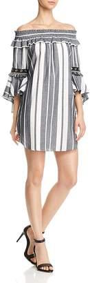 MISA Los Angeles Cybele Off-the-Shoulder Dress $238 thestylecure.com