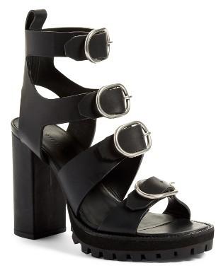 Women's Allsaints Osuna Block Heel Sandal $348 thestylecure.com