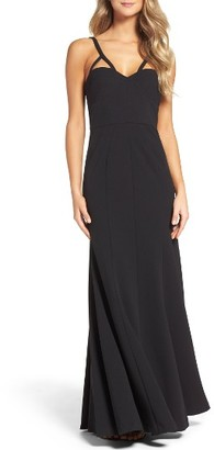Women's Vera Wang Strappy Jersey Gown $298 thestylecure.com