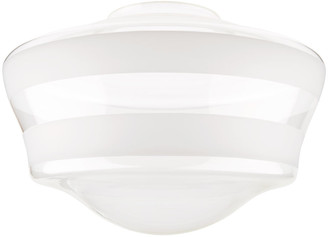 """Rejuvenation 16"""" Double Striped Ogee Schoolhouse Shade"""