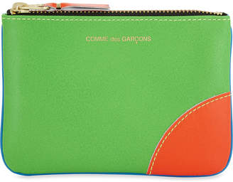 Comme des Garcons Super fluorescent small leather pouch
