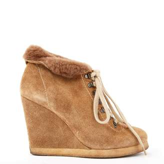Sandro Beige Suede Ankle boots