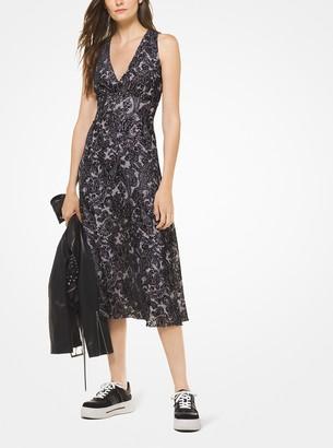 MICHAEL Michael Kors Paisley Velvet Devore Empire Dress