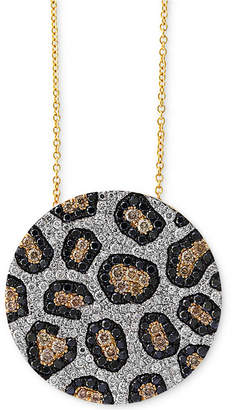 Effy Diamond Animal Pattern Pendant Necklace (1-3/4 ct. t.w.) in 14k Gold