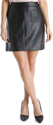 Pu Pocket Mini Skirt
