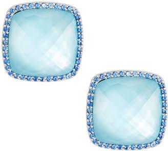 Roberto Coin 18k White Gold Topaz & Sapphire Stud Earrings