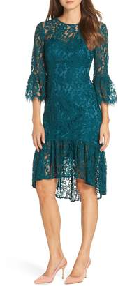 Eliza J High/Low Bell Cuff Lace Dress