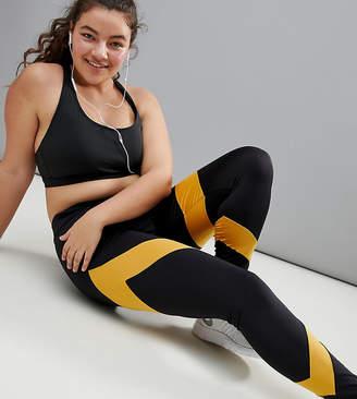 South Beach Plus Stripe Panel Legging