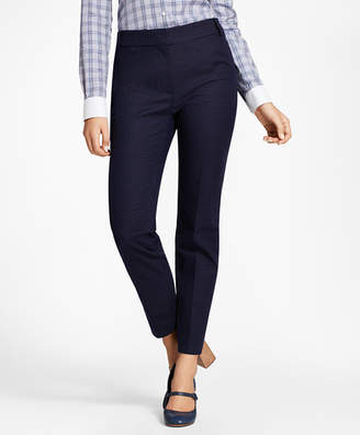 Brooks Brothers Slim-Fit Diamond Jacquard Ankle Pants