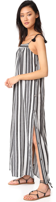 Madewell Striped Side Button Maxi Dress $148 thestylecure.com