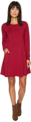 Mod-o-doc Cotton Modal Spandex Jersey Princess Seamed Dress with Front Pockets Women's Dress