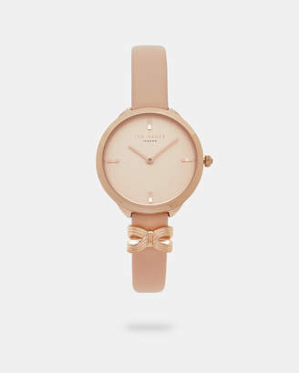 Ted Baker BOWIS Bow detail leather watch