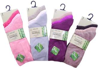Bamboo A Women's 6 Pairs Extra Fine Socks