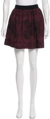 Torn By Ronny Kobo Textured Mini Skirt