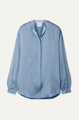 Forte Forte forte_forte - Washed-satin Shirt - Light blue
