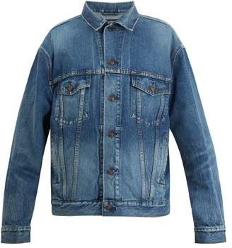 Balenciaga BB-embroidered denim jacket