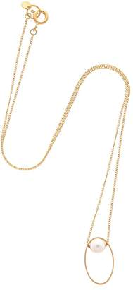 Lia Di Gregorio Ovale Box Gold Necklace