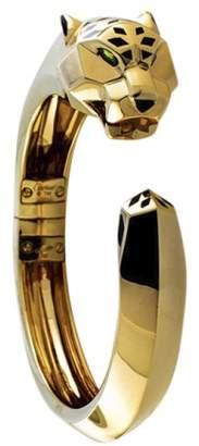 Panthere De 18K Yellow Gold Hinged Cuff Bangle