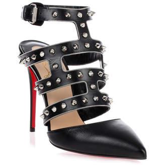Christian Louboutin Tchicaboum black spikes sandal
