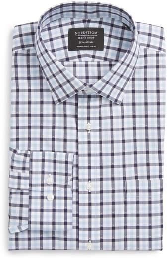 Smartcare(TM) Trim Fit Check Dress Shirt