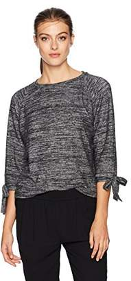 Velvet by Graham & Spencer Women's Pamira Cozy Jersey Tie Sleeve Sweatshirt