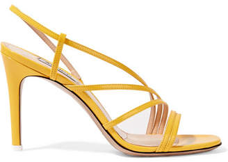 ATTICO Baby Patent-leather Slingback Sandals - Yellow