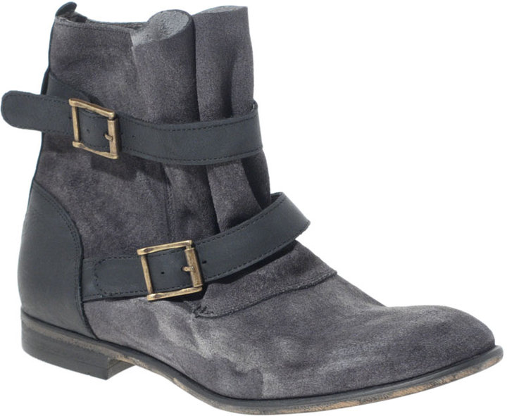 H By Hudson Starley Suede Strapped Ankle Boots