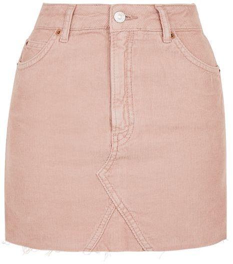 TopshopTopshop Moto cord mini high waist skirt