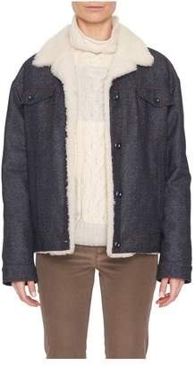 Loro Piana David Winter Cashmere-Denim Jacket With Shearling