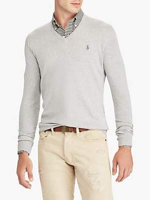 Ralph Lauren Polo Pima Cotton V Neck Jumper