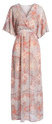 Love, Fire Chiffon Maxi Dress