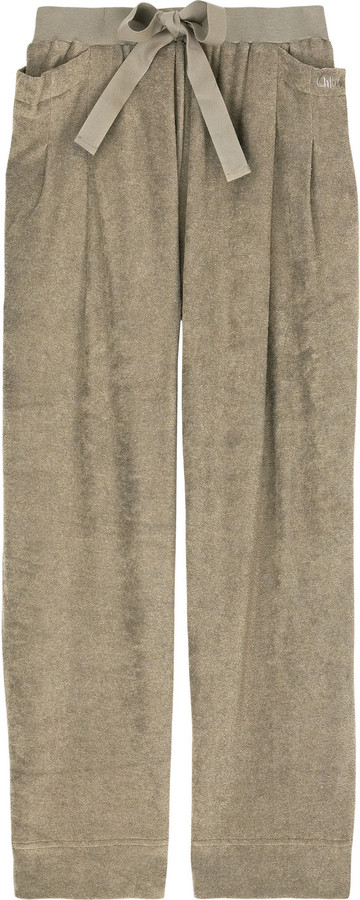 Chloé Cropped towelling pants