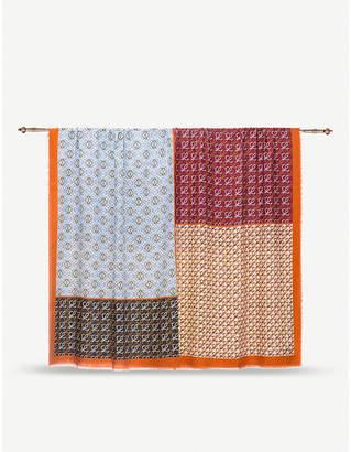 Loewe Patchwork wool and silk-blend scarf