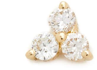 Ef Collection Diamond Trio Single Stud Earring