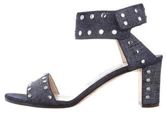Jimmy Choo Veto Denim Sandals