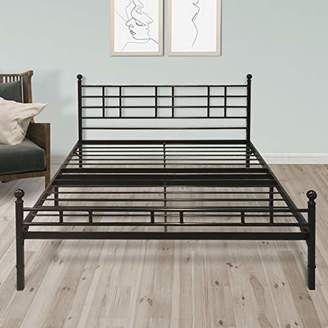 "Best Price Mattress Twin XL Bed Frame - 12"" Metal Platform Bed Frame [Model H] Easy Setup w/Headboard (No Box Spring Needed)"