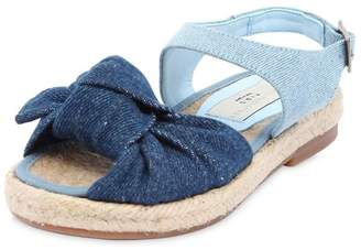 Stella McCartney Two Tone Denim Sandals With Knot