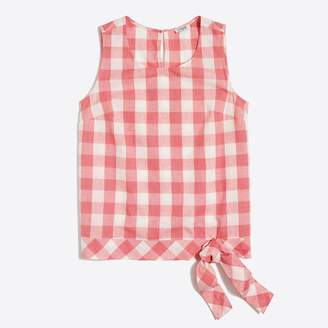 J.Crew Factory Gingham side-tie shell
