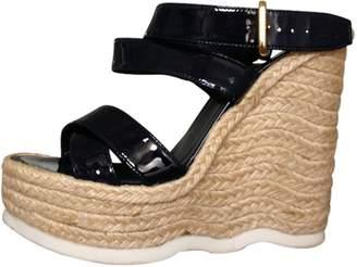 Saint Laurent Blue Patent leather Sandals