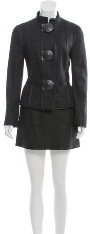 Andrew Gn Andrew Gn Wool Skirt Suit