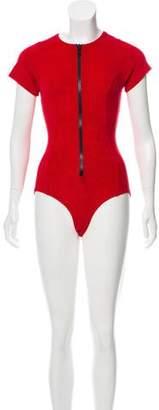 Lisa Marie Fernandez Terry Cloth One-Piece Swimsuit