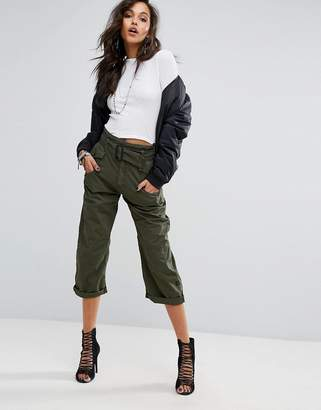 G-Star Cropped Skater Chino with Tie Belt $190 thestylecure.com