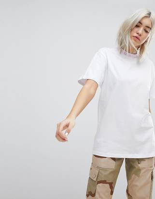 N. Rip Dip Ripndip Relaxed T-Shirt With Must Be Nice Collar Print